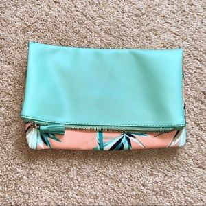 Rachel Pally Teal Coral Floral Clutch